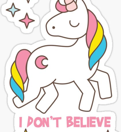 I Don't Believe In Humans - Unicorn Funny T Shirt Sticker