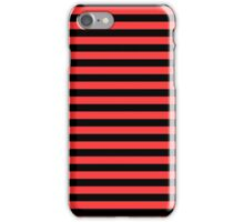Donated Kidney Pink and Black Horizontal Witch Stripes iPhone Case/Skin