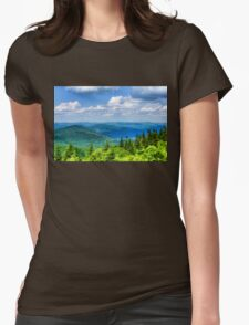 Just Breathe Deeply - Impressions of Mountains Womens Fitted T-Shirt