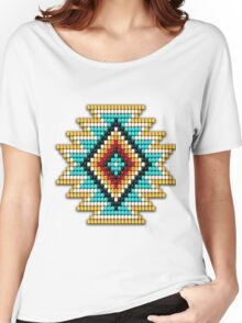 Native American-Style Rainbow Sunburst Women's Relaxed Fit T-Shirt