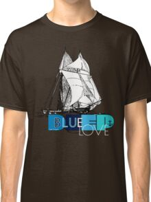 Deep Blue Ocean Love Sailing Design Classic T-Shirt