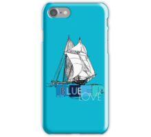 Deep Blue Ocean Love Sailing Design iPhone Case/Skin