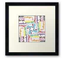 French colour words IV Framed Print