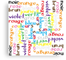 French colour words IV Canvas Print