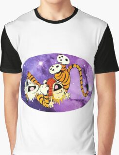 Calvin and Hobbes Laugh Graphic T-Shirt
