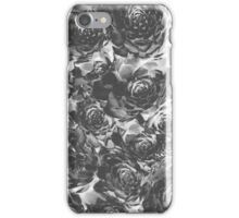 Negative black and white vegetable pattern iPhone Case/Skin