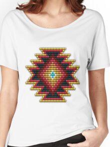 Native American-Style Fiery Sunburst Women's Relaxed Fit T-Shirt