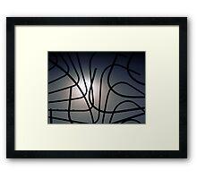 Curvilinear Cagework Framed Print