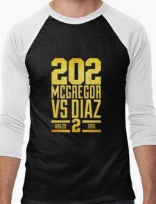 UFC202 McGregor V Diaz 2 Gold Men's Baseball ¾ T-Shirt
