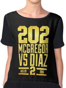 UFC202 McGregor V Diaz 2 Gold Chiffon Top