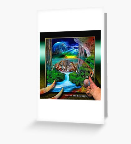Omens & Elephants Greeting Card
