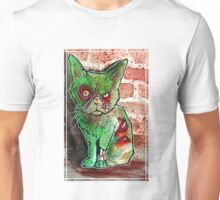 Mean Green Cute Zombie Cat Unisex T-Shirt