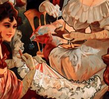 Biscuits Lefevre-Utile 2' by Alphonse Mucha (Reproduction). Sticker