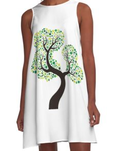Colorful tree, colouring art A-Line Dress