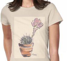 Echinopsis oxygona cactus Womens Fitted T-Shirt