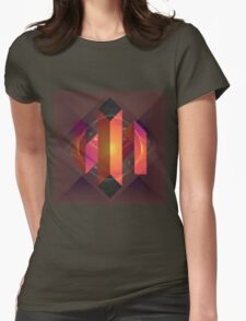 Origami-esque Womens Fitted T-Shirt