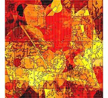 Hot Random Abstract Shapes: Maps & Apps Series Photographic Print