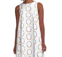 Flower Chain A-Line Dress