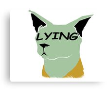 "lying cat- saga comic ""lying"" Canvas Print"