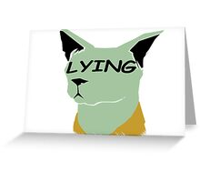 "lying cat- saga comic ""lying"" Greeting Card"