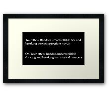 Breaking into Musical Numbers Framed Print