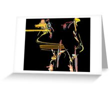 Wild and Crazy Poodle!  Can you see him? Greeting Card