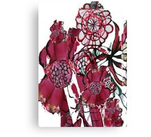 Spiral Flowers Rose Coloured  Canvas Print