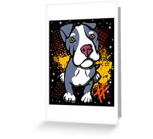 Blue Pit Bull Pup  Greeting Card