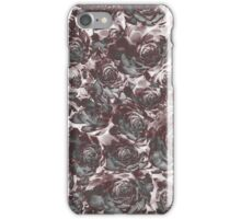 Negative red vegetable pattern. iPhone Case/Skin