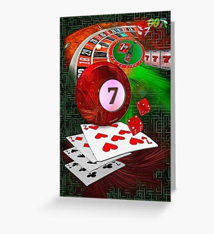 7's Greeting Card