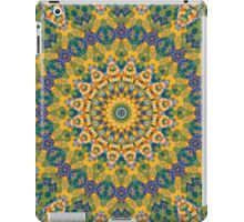 Blue, Green, and Yellow MetaMetta Mandala I iPad Case/Skin