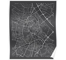 Vienna Map, Austria - Gray  Poster