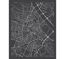 Vienna Map, Austria - Gray  Photographic Print