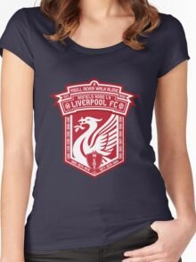 Liverpool FC - Alternate Logo / Badge Women's Fitted Scoop T-Shirt