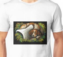 Brittany Spaniel Dog~Dont Worry~Life is too Short~Love note Unisex T-Shirt