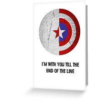 Cap and Bucky Black Text Greeting Card
