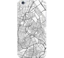Vienna Map, Austria - Black and White iPhone Case/Skin