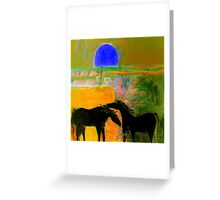 Blue Sun Valley Greeting Card