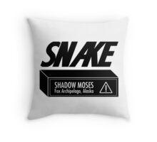 Snake Cardboard Box Throw Pillow