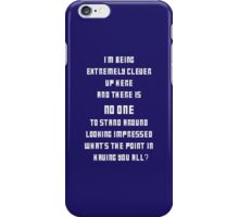 Extremely Clever DOCTOR WHO - White font iPhone Case/Skin