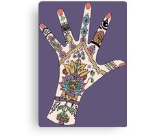Dr's Colourful Mehndi hand Canvas Print