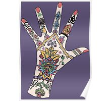 Dr's Colourful Mehndi hand Poster