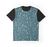"Navy ""Forest Floor"" print Graphic T-Shirt"