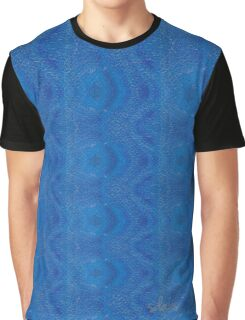 Abstract Blue Stripe Alteration 568B Graphic T-Shirt