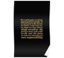 """Once philosophy is... """"Eleanor Roosevelt""""  Inspirational Quote Poster"""