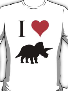 I Love Dinosaurs - Triceratops T-Shirt