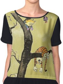 Calvin And Hobbes : I'll Help You Hob Chiffon Top