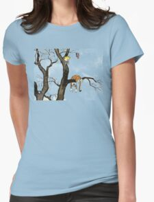 Calvin And Hobbes : I'll Help You Hob Womens Fitted T-Shirt