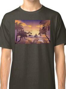 Tropical Island at Sunset Classic T-Shirt