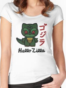 Hello Zilla Women's Fitted Scoop T-Shirt